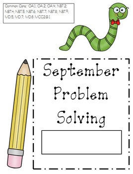 September Problem Solving (Word Problems)