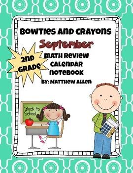 September Quick Math Review Calendar
