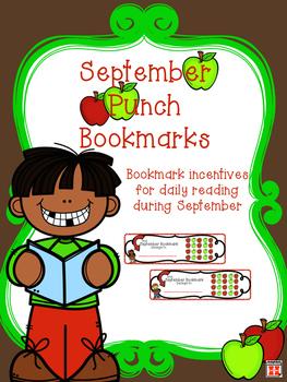 September Reading Incentive Bookmark: Reward Daily Reading