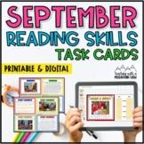 September Reading Skills and Enrichment Task Cards *Aligne