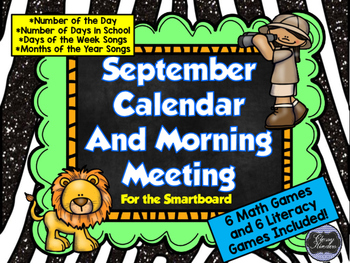 September SMARTboard Morning Meeting and Much More!