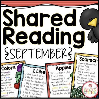 September Shared Reading (Sight Word Poems)