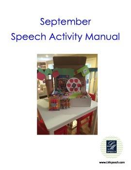 September Speech Therapy Ideas