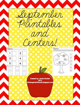 September Printables and Centers Bundle