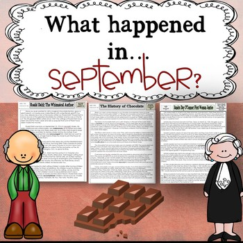 September Themed Reading Passages with Common Core Aligned