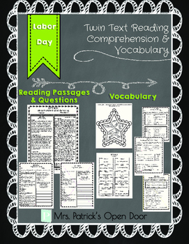 Twin Text Reading Comprehension and Vocabulary- Labor Day