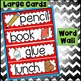 Word Wall and Tracing FREEBIE: September August  (vocabula