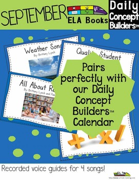 September Word of the day ELA Book and Song Bundle With Co