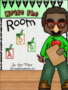 September Write the Room Activities for Kindergarten