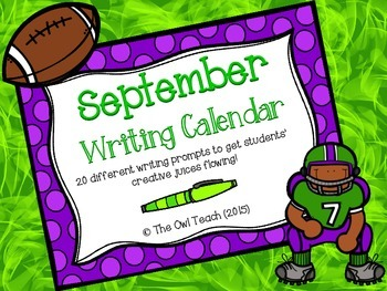 Writing Calendar: 20 Writing Prompts for the Month of September!