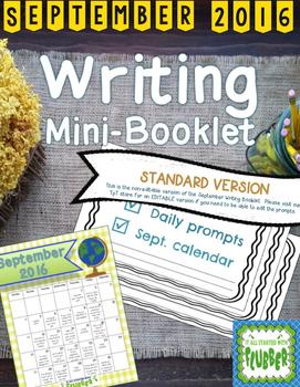 September Writing Calendar and Booklet (Non-editable Version)
