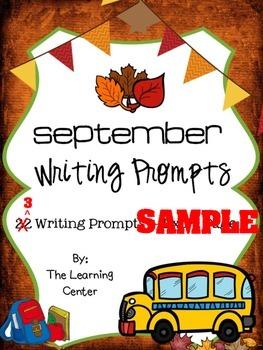 September Writing SAMPLE
