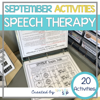 September Monthly Themed Therapy:  Back to Speech and Language