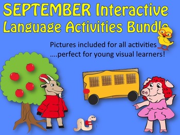 September/Back to School Interactive Activities bundle