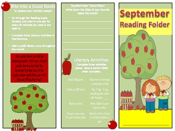September/Back to School Reading Tri-fold