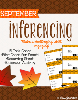 September Inferencing Task Cards