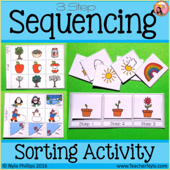 Sequence Cards - 3 Step Sorting Activity