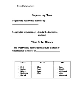 Sequence Cloze Notes