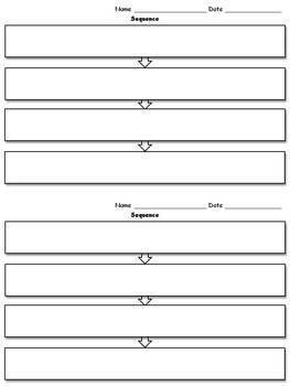Sequence Graphic Organizer - Flow Chart - 2 per page - Kin