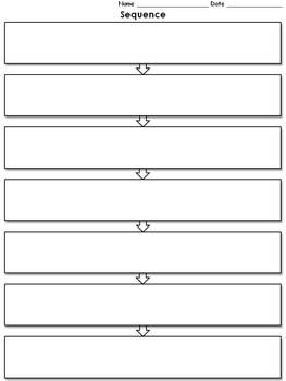 Sequence Graphic Organizer - Flow Chart - 7 - full page -