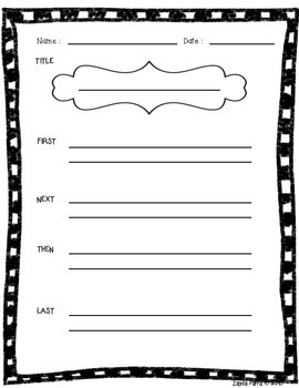 Sequence Graphic Organizer {Free!}