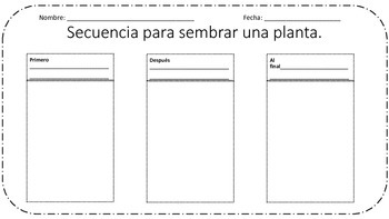 Sequence Plant Spanish/ Secuencia planta Espanol
