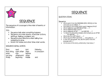 Sequence Reference Card