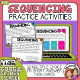 Sequencing Task Cards: 32 Reading Strategy Paragraph Cards