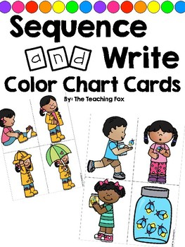 Sequence and Write Color Cards GROWING SET {How-To Writing}