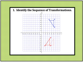 Sequence of Multiple Transformations 8G2