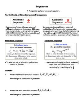 Sequences - Graphic Organizer