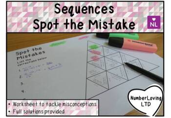 Sequences (Spot the Mistake)