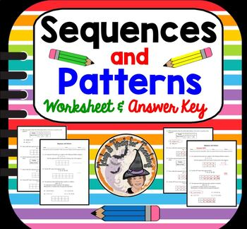 Sequences and Patterns Practice Worksheet Sequence Pattern
