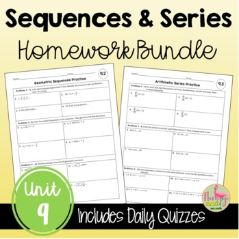 Sequences and Series Homework Bundle