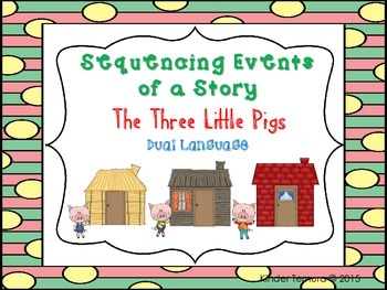Sequencing Events of a Story- The Three Little Pigs (Dual
