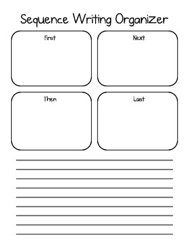 Sequencing Graphic Organizer for Writing - First, Then, Ne