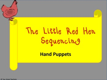 """Sequencing Hand Puppets for """"The Little Red Hen"""""""