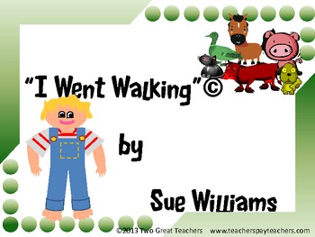 """Sequencing """"I Went Walking"""""""