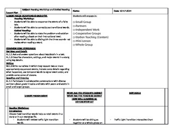 Sequencing Lesson Plan- Fairy Tale