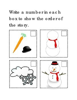 Sequencing Make A Snowman Following Directions Comprehensi