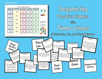 Sequencing Practice Games Using Time Lines of Colorado, U.