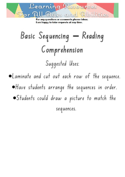 Sequencing - Reading Comprehension