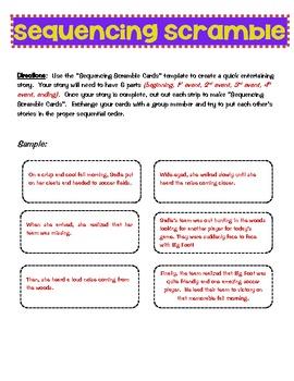 Sequencing Scramble Creative Story Activity
