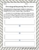 Sequencing Text Structure Paragraphs: Graphic Organizer Worksheet