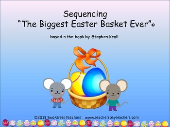 """Sequencing """"The Biggest Easter Basket Ever"""""""
