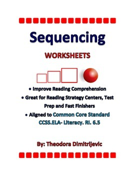 Sequencing Worksheets C. C. Standard ELA-Literacy.RI.6.5