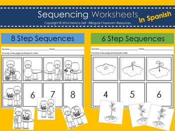 Sequencing Worksheets In Spanish