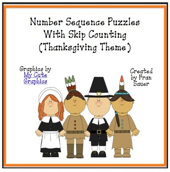 Sequencing and Skip Counting Puzzles for Thanksgiving