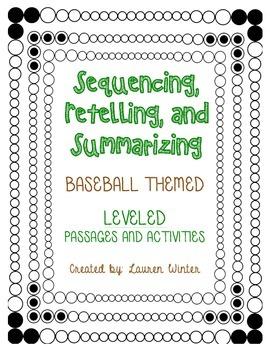 Sequencing and Summarizing: Baseball Themed Leveled Passag