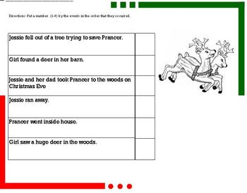 """Sequencing with """"Prancer"""" Movie Grades 2/3"""